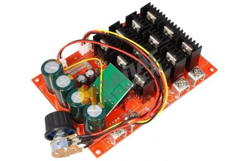 F108M Высокомощный ШИМ-регулятор скорости вращения электродвигателя постоянного тока (10-60В, 60А макс) купить в магазине Запас Мощности