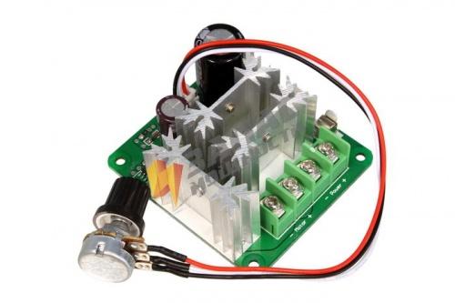 F036M ШИМ-регулятор скорости вращения электродвигателя постоянного тока (6-80В, 6А макс) купить в магазине Запас Мощности